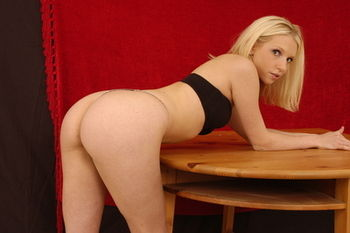 Just imagine coming in to find me bent over the table ...